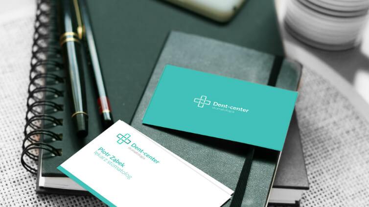 Kreacja materiałów graficznych wizytówek dla lekarzy, stomatologów, gabinetów medycznych